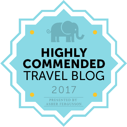 Highly Commended Travel Blog 2017