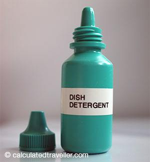dish detergent dropper bottle