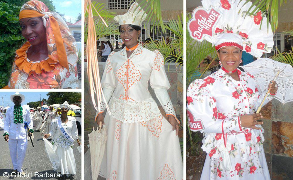 Curacao – Dushi meaning - Charla wearing Curacao traditional clothing