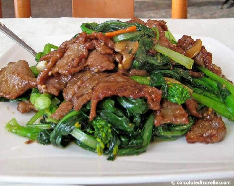 Chinese Dinner with Mama - Fortune Restaurant - Beef and Broccoli