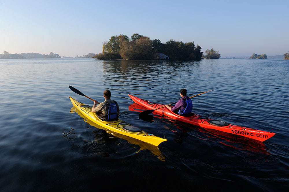 1000 Islands Kayaking in Thousand Islands, Ontario: Paddling back through history