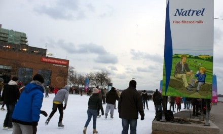 Natrel Rink Outdoor Skating at Harbourfront Centre in Toronto