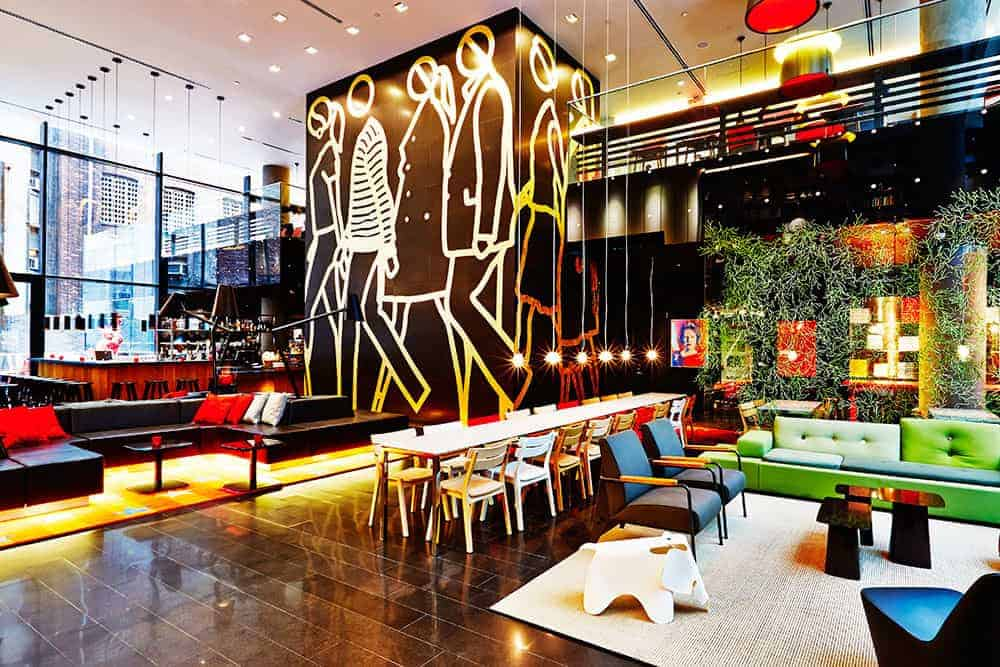 citizenM new york city lobby
