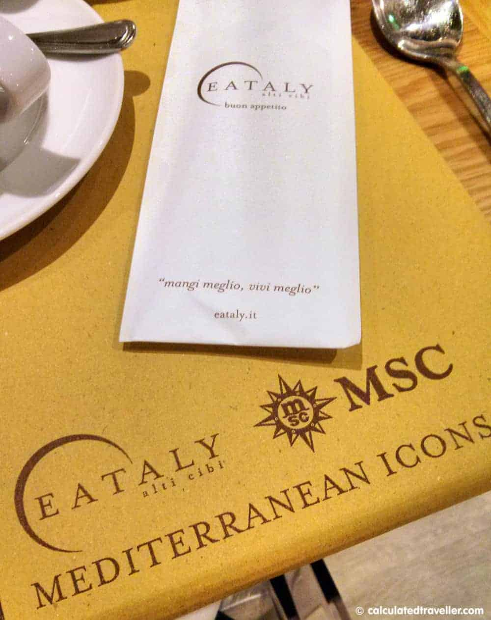 MSC Divina Eataly Review