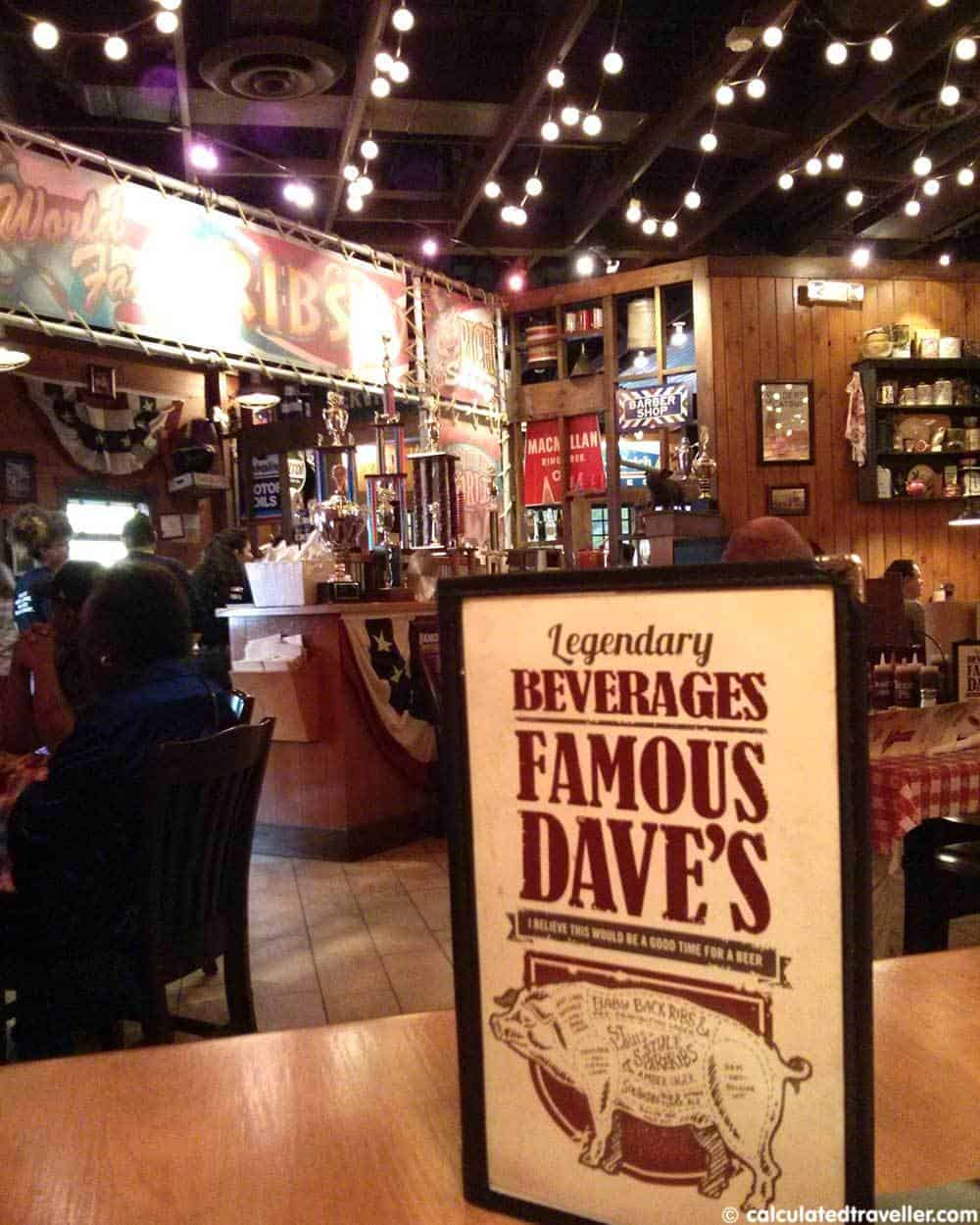 famous dave's barbecue