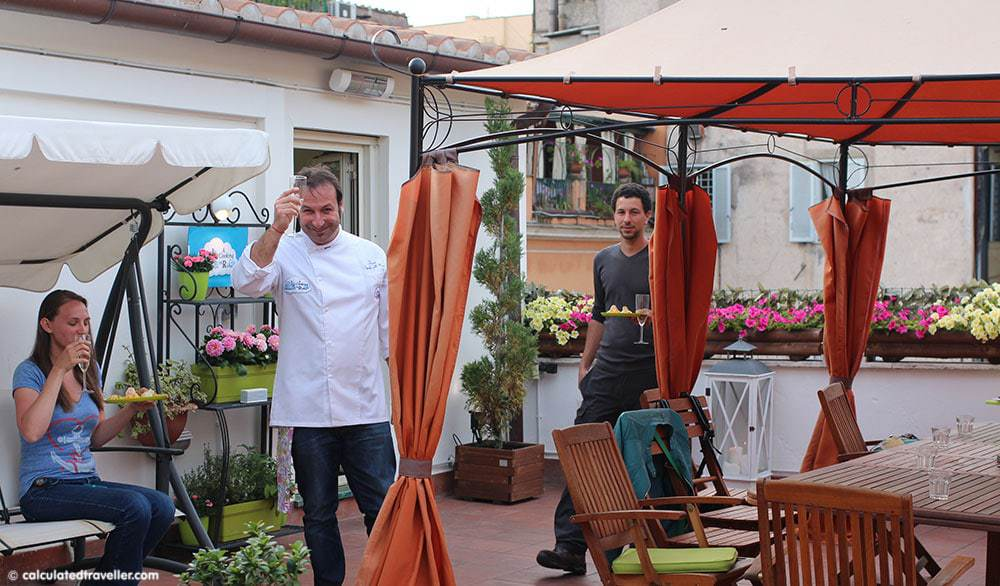 Chef David cooking class in rome