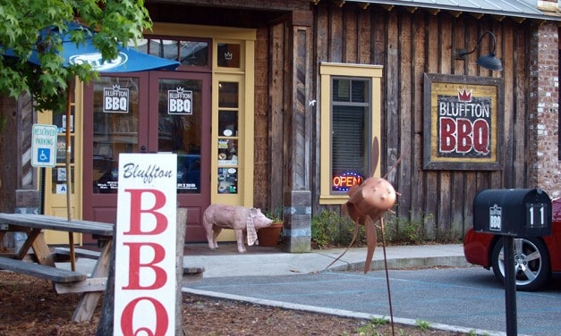 Bluffton BBQ. Where Pigs Fly & the Mayor Pro Tem is Pit Master
