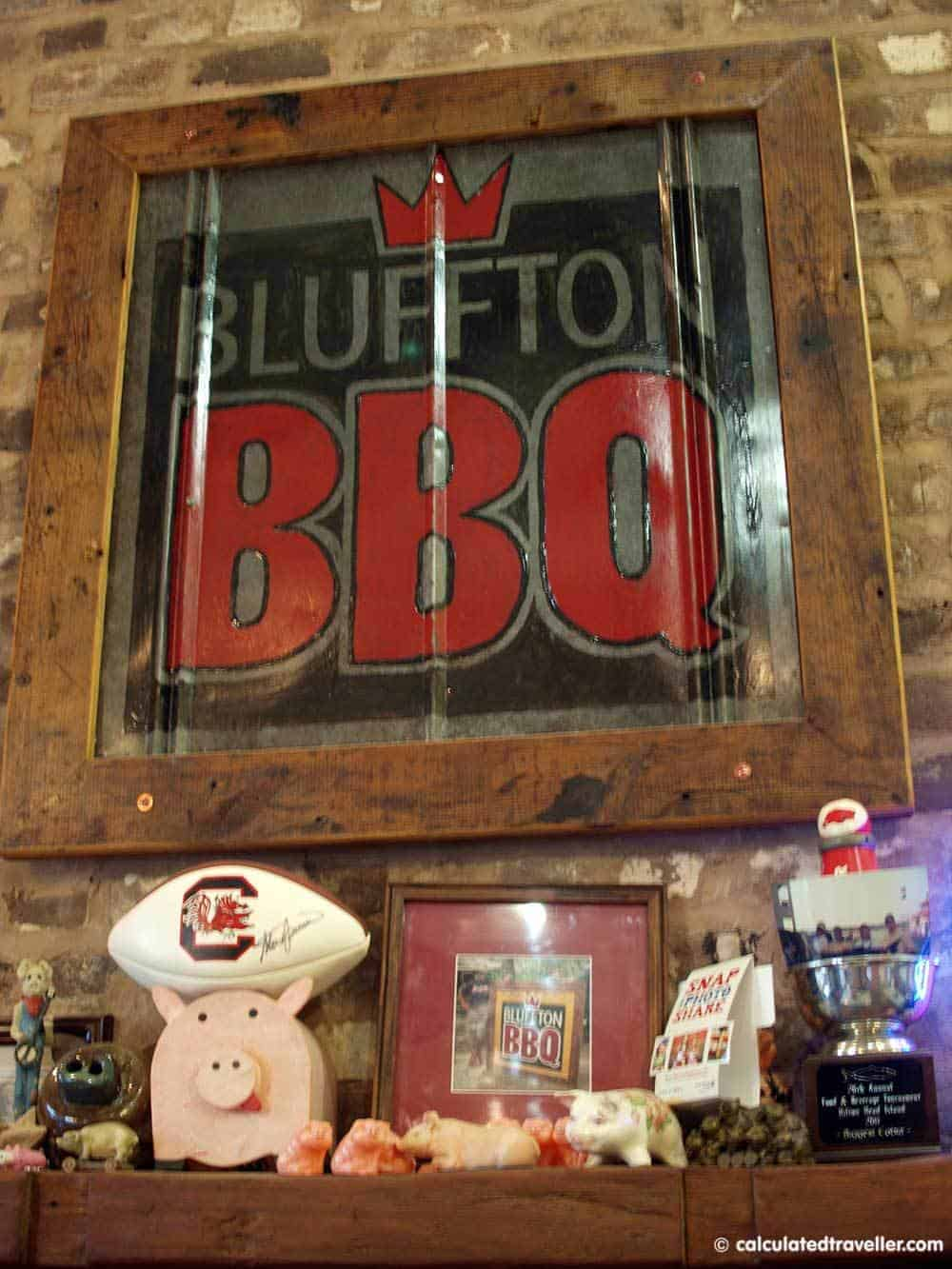 bluffton bbq south carolina calculated traveller