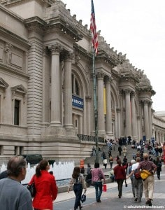 Outside the Metropolitan Museum of Art NYC