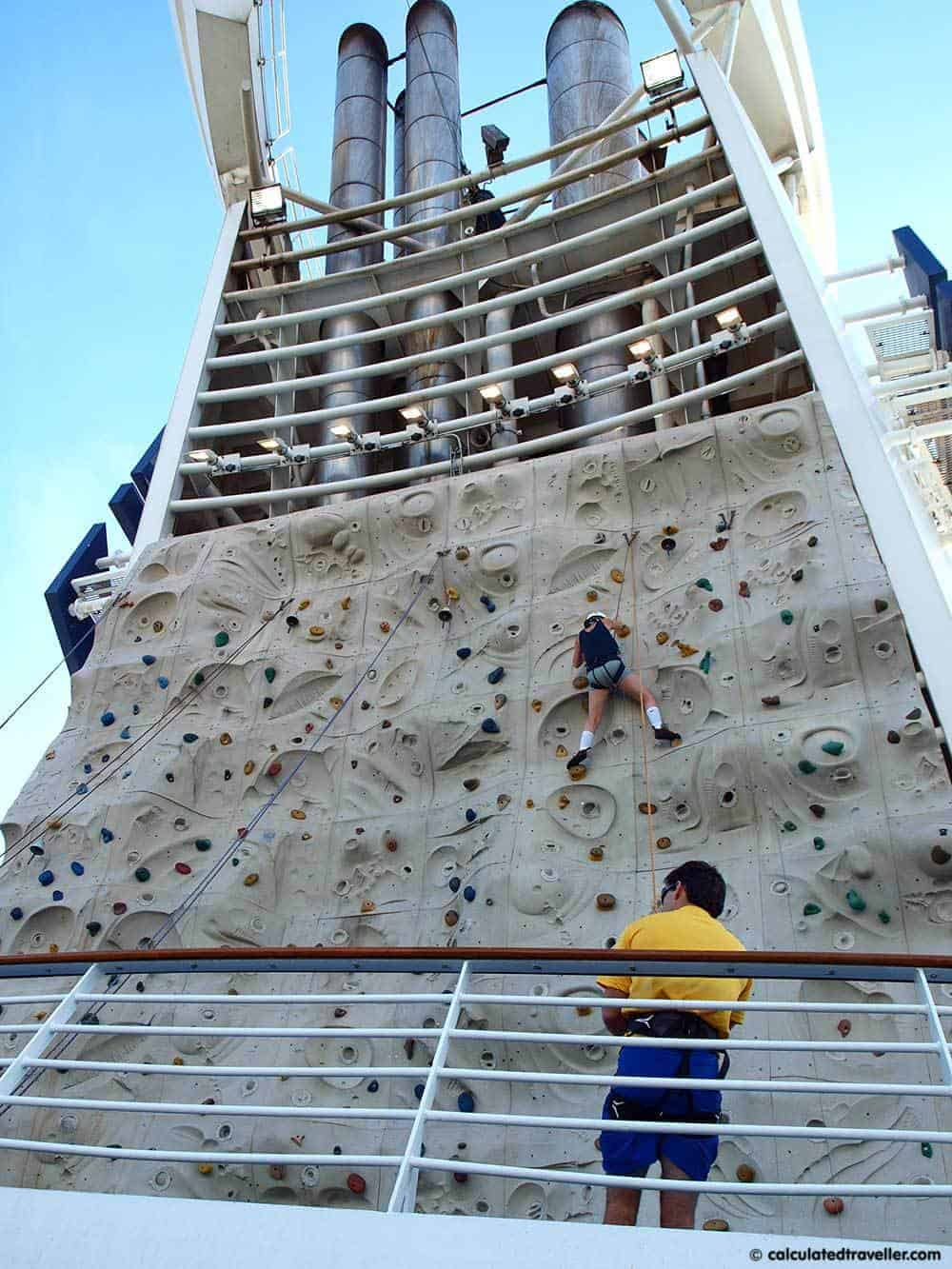 Rock Climbing first-time cruise ship experiences