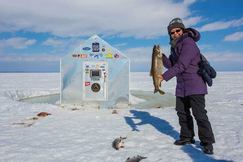 4 Girls Go Ice Fishing for the First Time - Calculated Traveller
