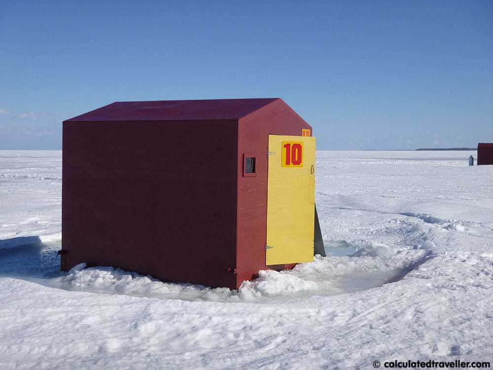4 Girls Go Ice Fishing for the First Time - Lake Simcoe