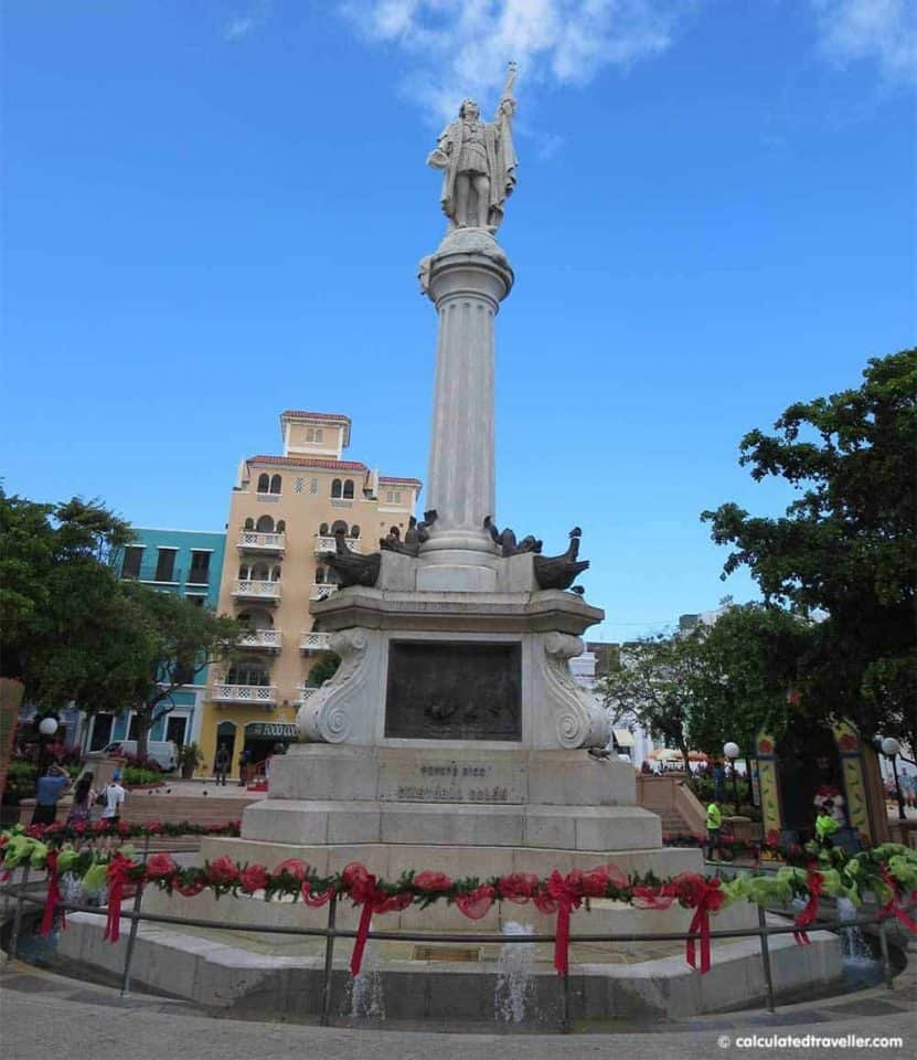 Plaza de Colon One Day in San Juan Puerto Rico