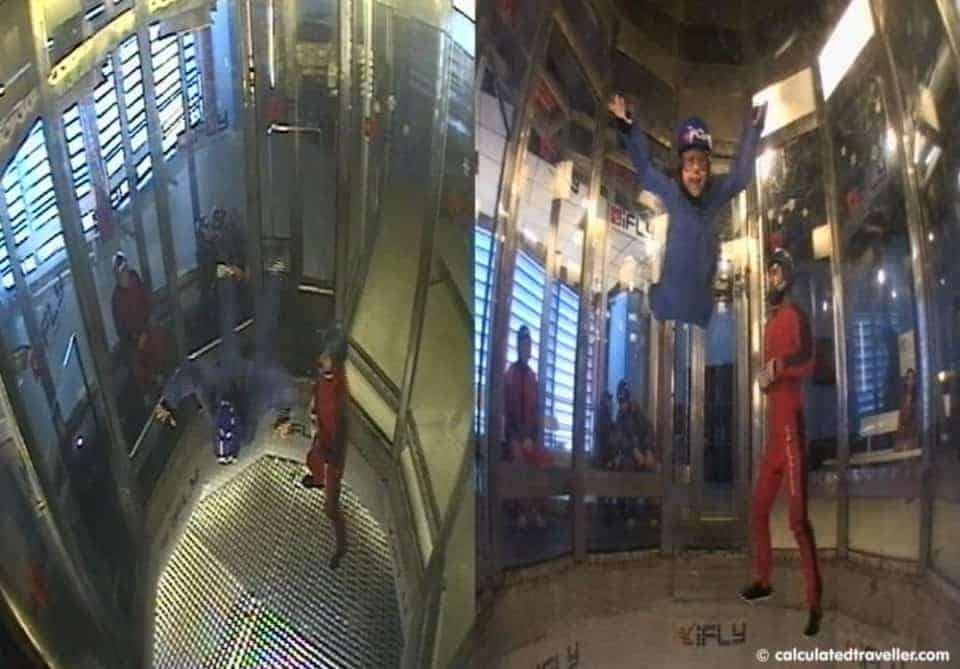 iFly Indoor Skydiving Calculated Traveller