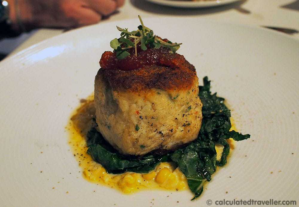 Crab Cake - Dining at Caretta on The Gulf, Clearwater Florida