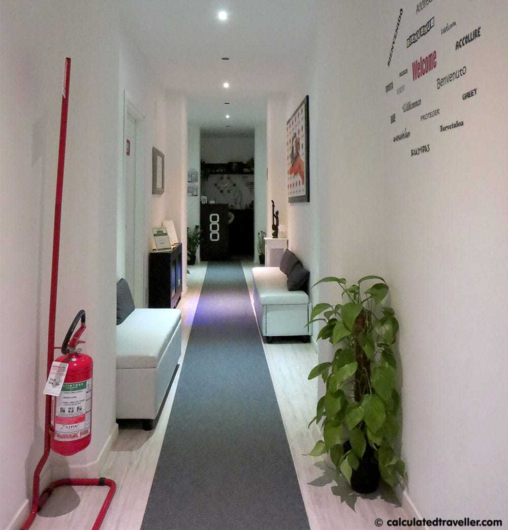 Chroma Tessera Hotel Rome Italy Review - Hallway - Calculated Traveller