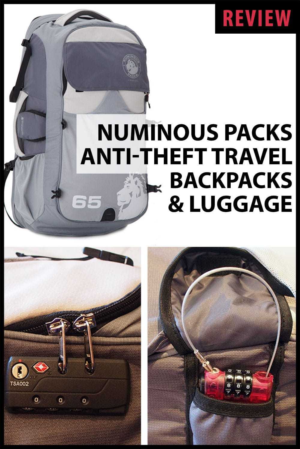 Numinous Packs Anti-Theft Travel Backpacks and Luggage Review by Calculated Traveller