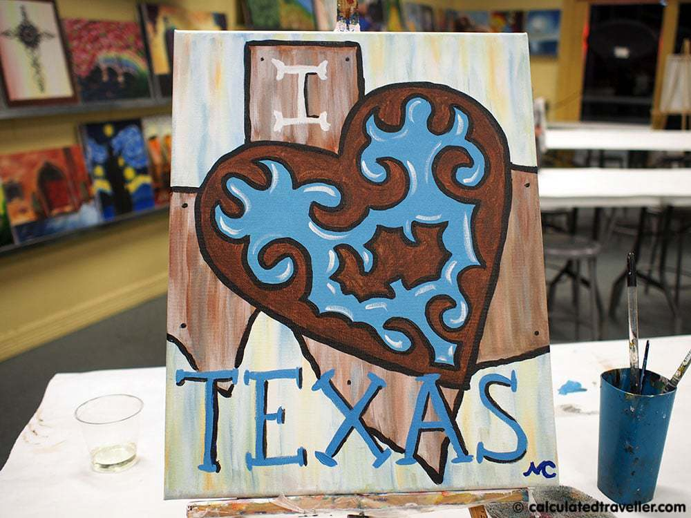 Painting with a Twist Grapevine Texas Calculated  Traveller