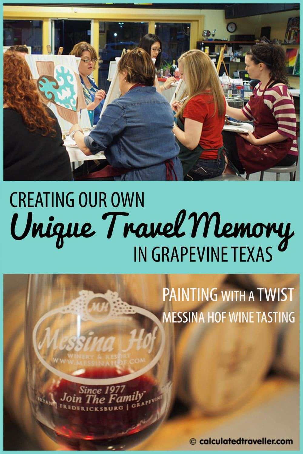 Messina Hof Winery and Painting with a Twist Grapevine Texas