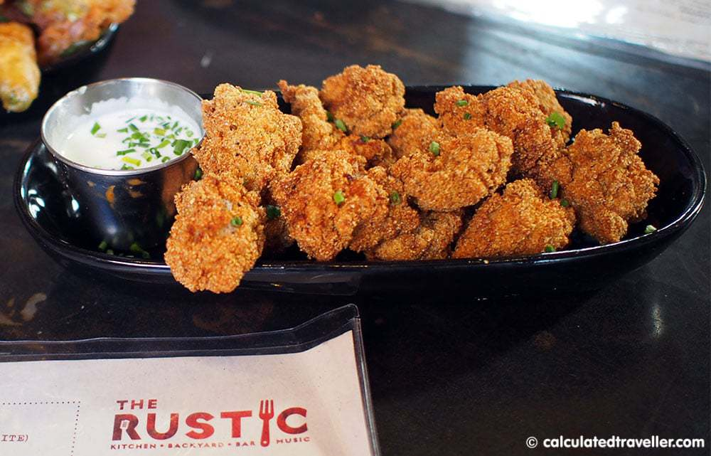 Eating #DallasBig at The Rustic Dallas Texas - Calf Fries