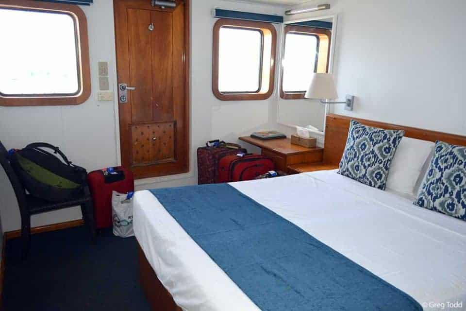 Sailing Fiji on Captain Cook Cruises Reef Endeavour – The Ultimate in Small Ship Cruising  - Stateroom