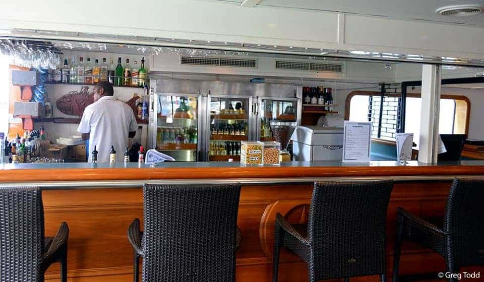 Sailing Fiji on Captain Cook Cruises Reef Endeavour – The Ultimate in Small Ship Cruising - Bar