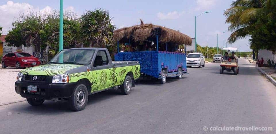 3 very different adventures in Mahahual, Costa Maya, Mexico - Shuttle Bus