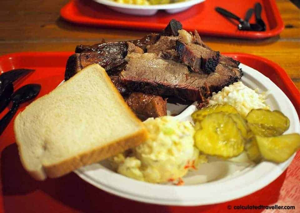 Sweet, Sweet, Smoky, Goodness at Iron Works BBQ Austin Texas - Sample Plate