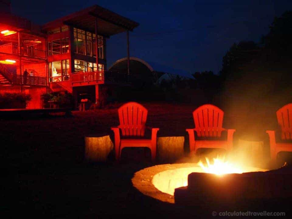 Glamping it UP at Long Point Eco-Adventures Ontario - Bonfire
