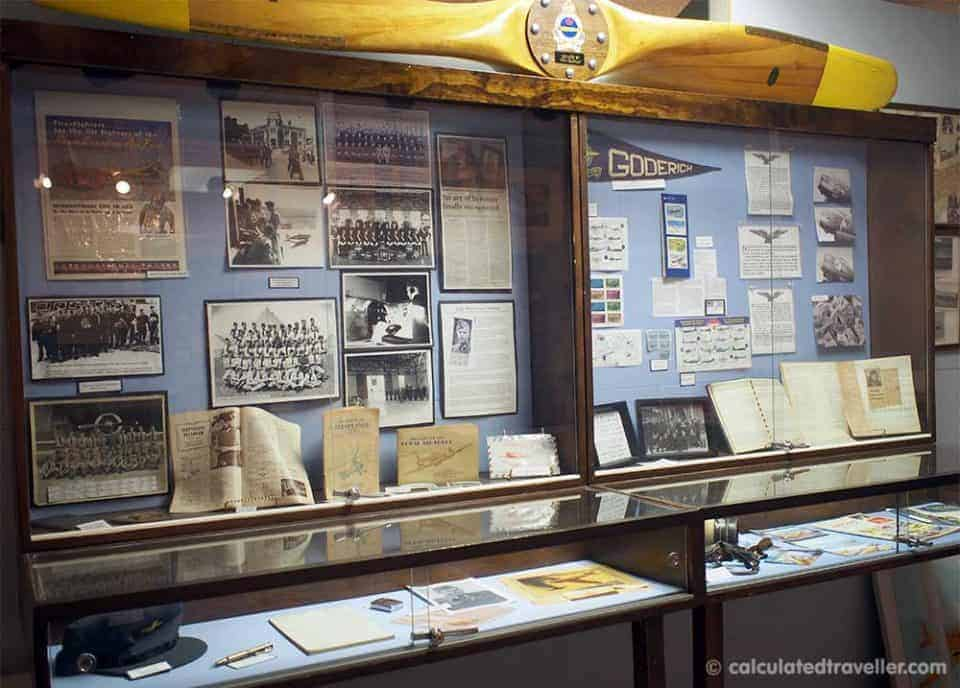 Discovering Flyers and History in Dunnville Ontario - No 6. RCAF  Dunnville Museum Exhibit