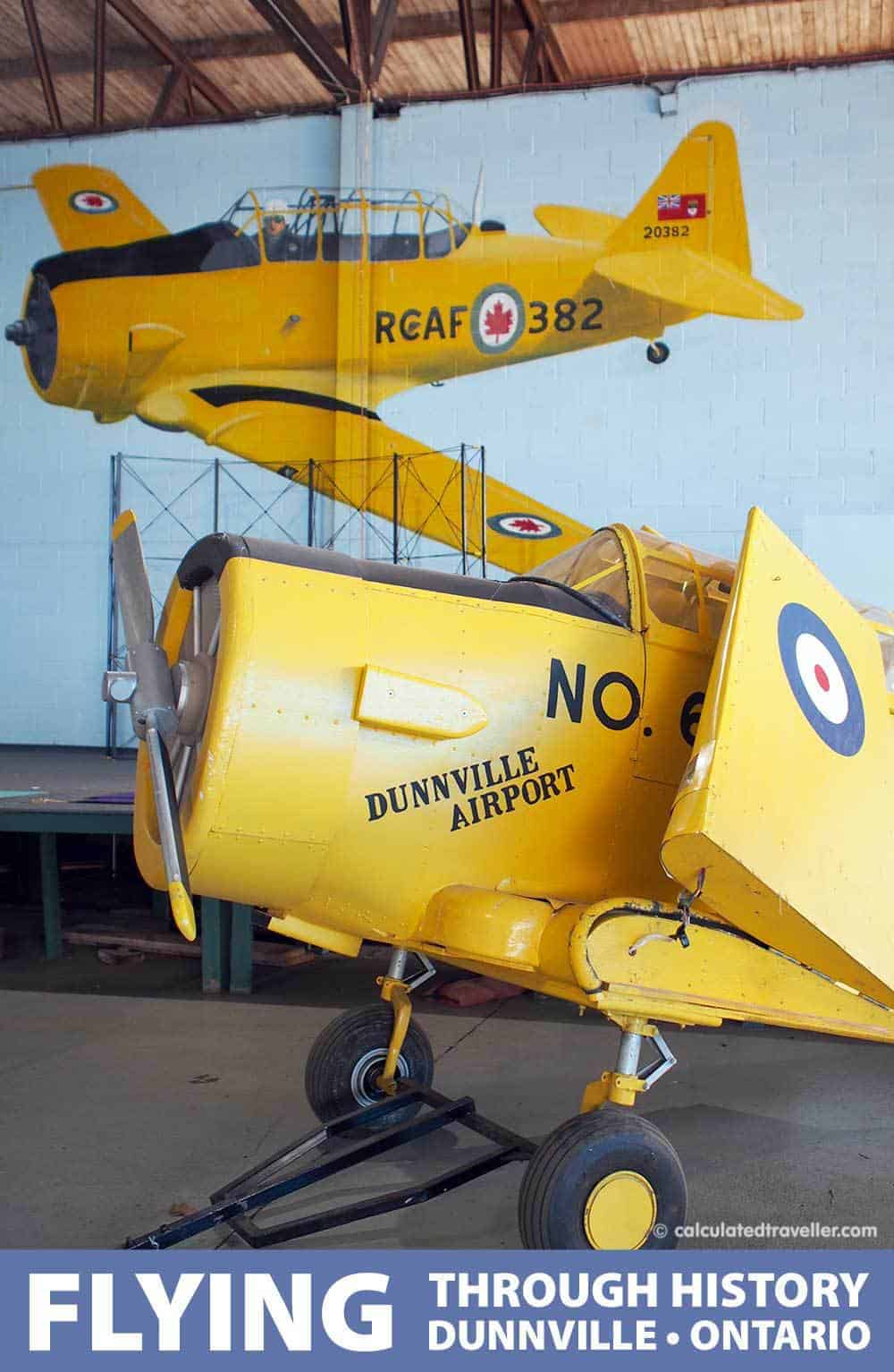 Discovering Flyers and History in Dunnville Ontario - No 6. RCAF  Dunnville Museum by Calculated Traveller Magazine