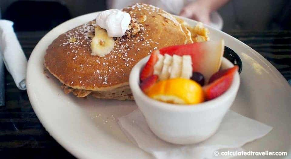 A Bloody Blue Big Al Breakfast at Bay Local Eatery Virginia Beach - Banana Pancakes