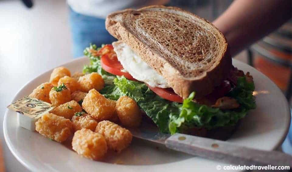 """A Bloody Blue Big Al Breakfast at Bay Local Eatery Virginia Beach - Breakfast BLT"