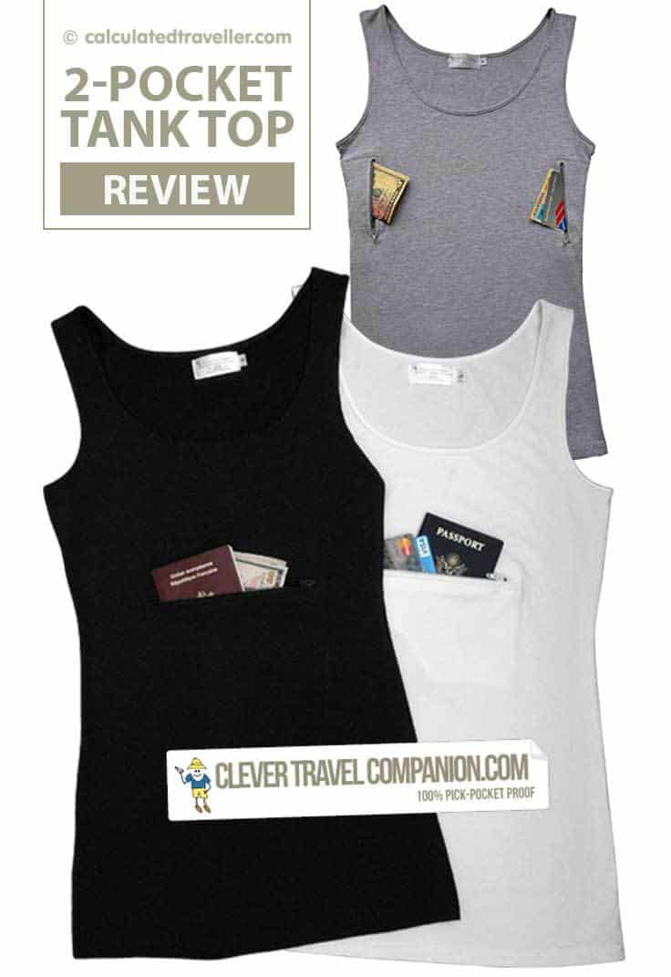 Clever Travel Companion Pickpocket Proof Tank Top by Calculated Traveller