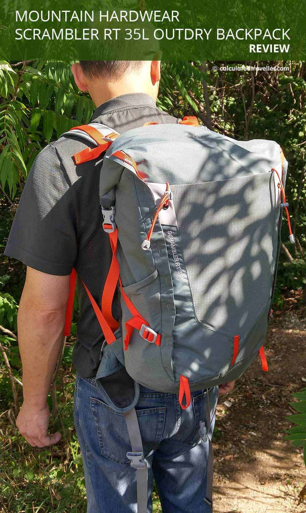 Mountain Hardwear Scrambler RT 35L Outdry Backpack. A Review by Calculated Traveller Magazine
