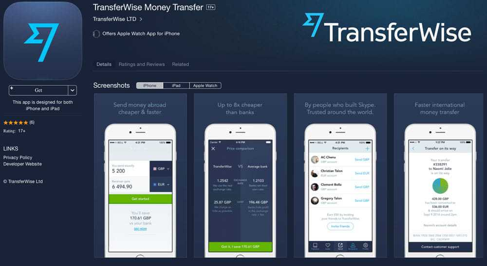 Manage Your Wealth on Vacation with these 5 Essential Apps - Transferwise