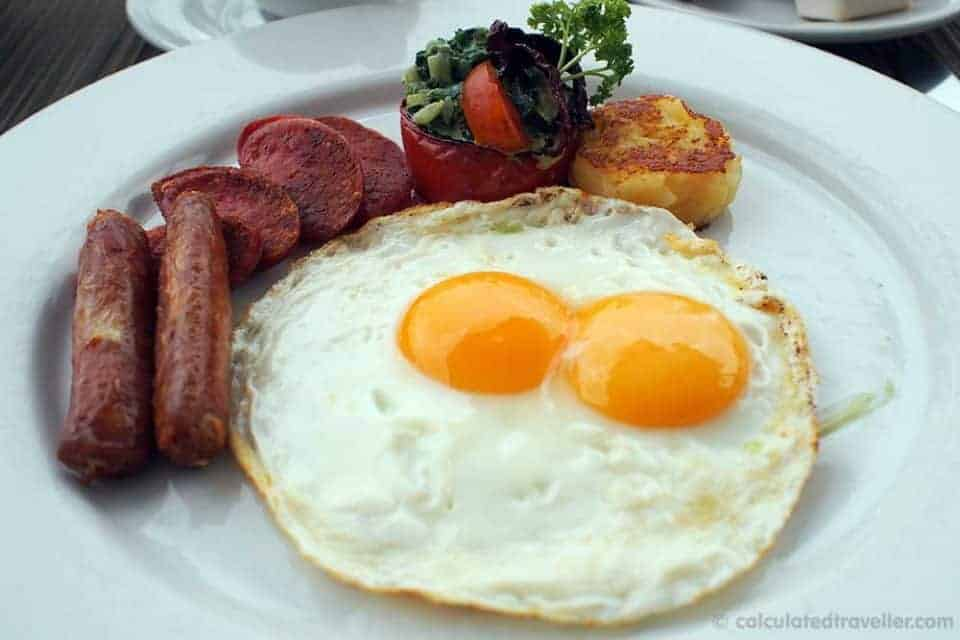 An All Inclusive Gourmet Experience at Villa Premier Boutique Hotel - Eggs and Sausage Mexican