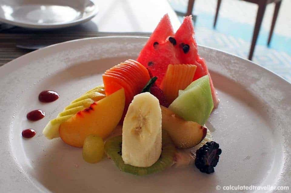 An All Inclusive Gourmet Experience at Villa Premier Boutique Hotel - Fruit / Papaya plate
