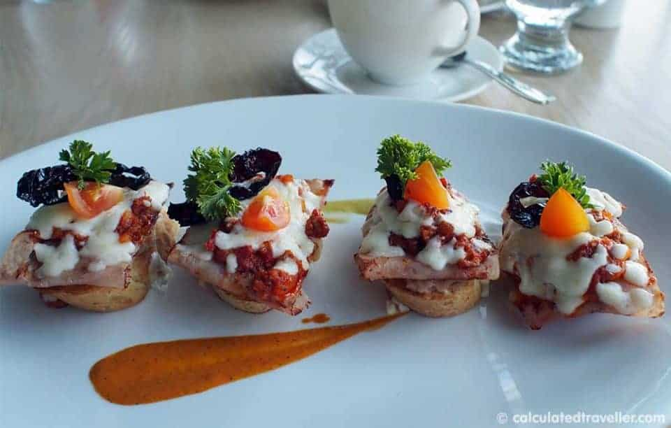 An All Inclusive Gourmet Experience at Villa Premier Boutique Hotel - Molletes with Turkey Chorizo