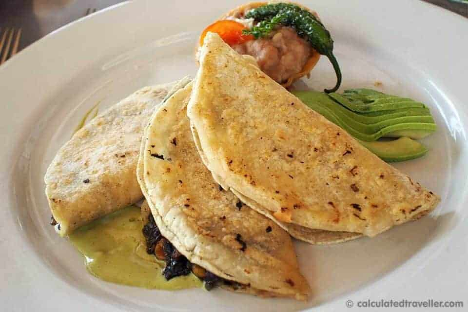 An All Inclusive Gourmet Experience at Villa Premier Boutique Hotel - Trio of Quesadillas
