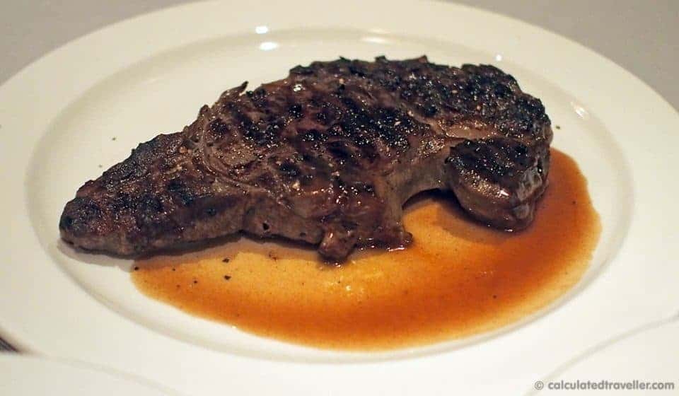 Cruise Ship Specialty Dining – Caribbean Princess Crown Grill - New York Strip Steak