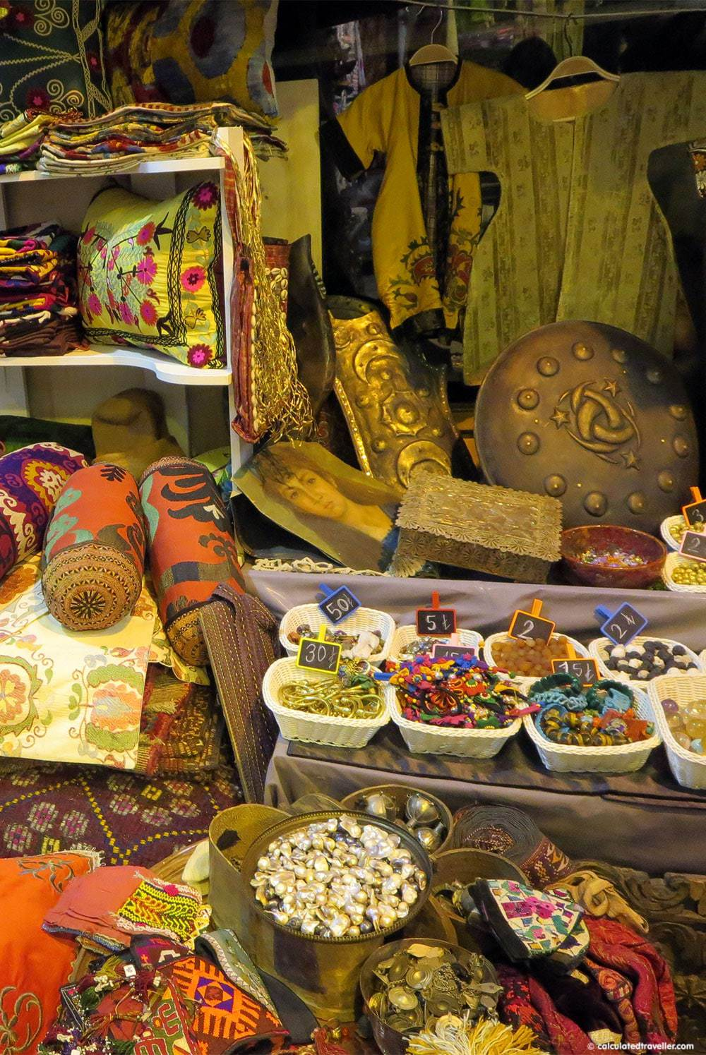 Antiques at the Grand Bazaar Istanbul Turkey in Photos by Calculated Traveller Magazine
