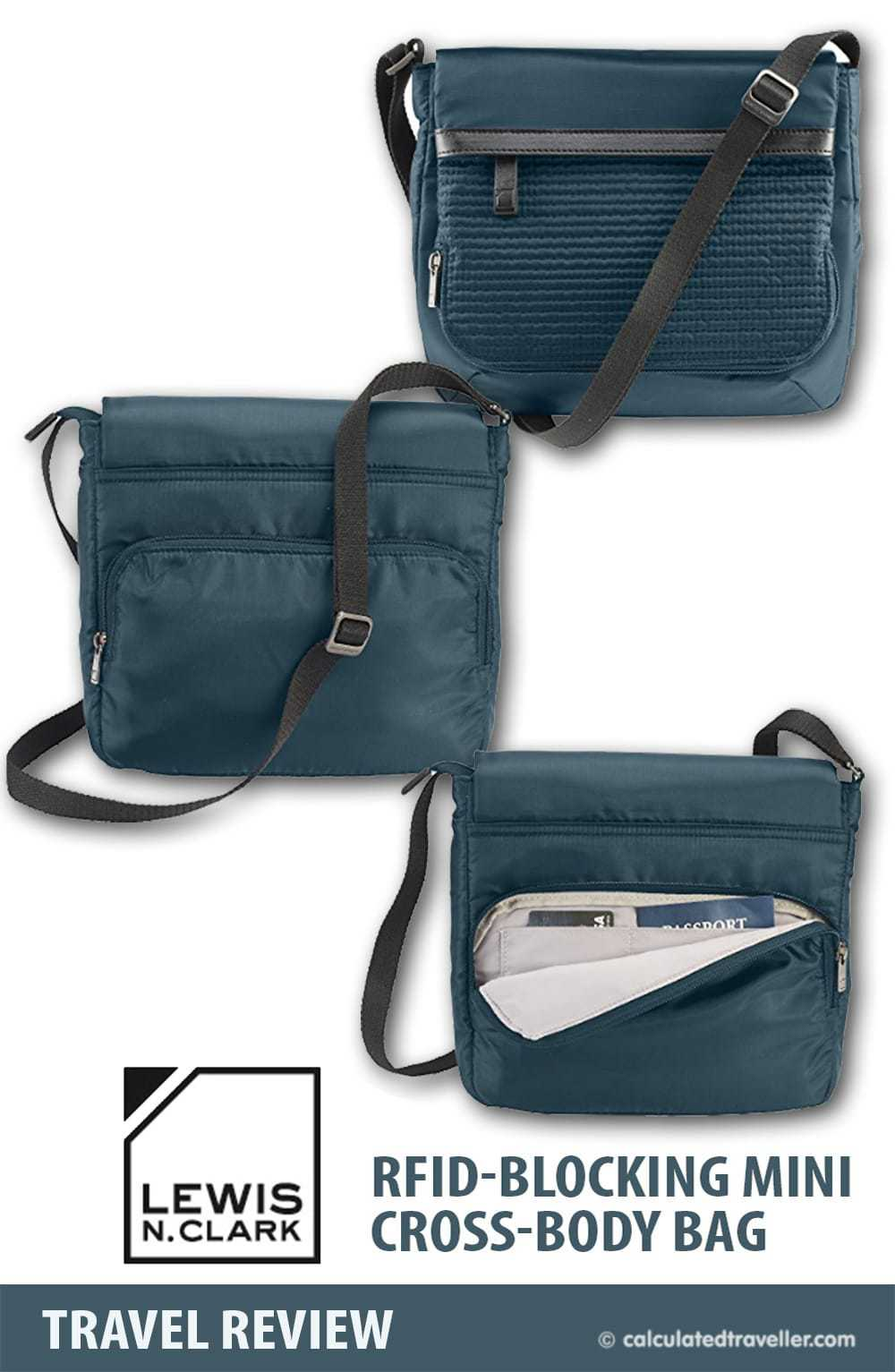 Lewis N. Clark WEA RFID-Blocking Mini Cross-Body Bag by Calculated Traveller
