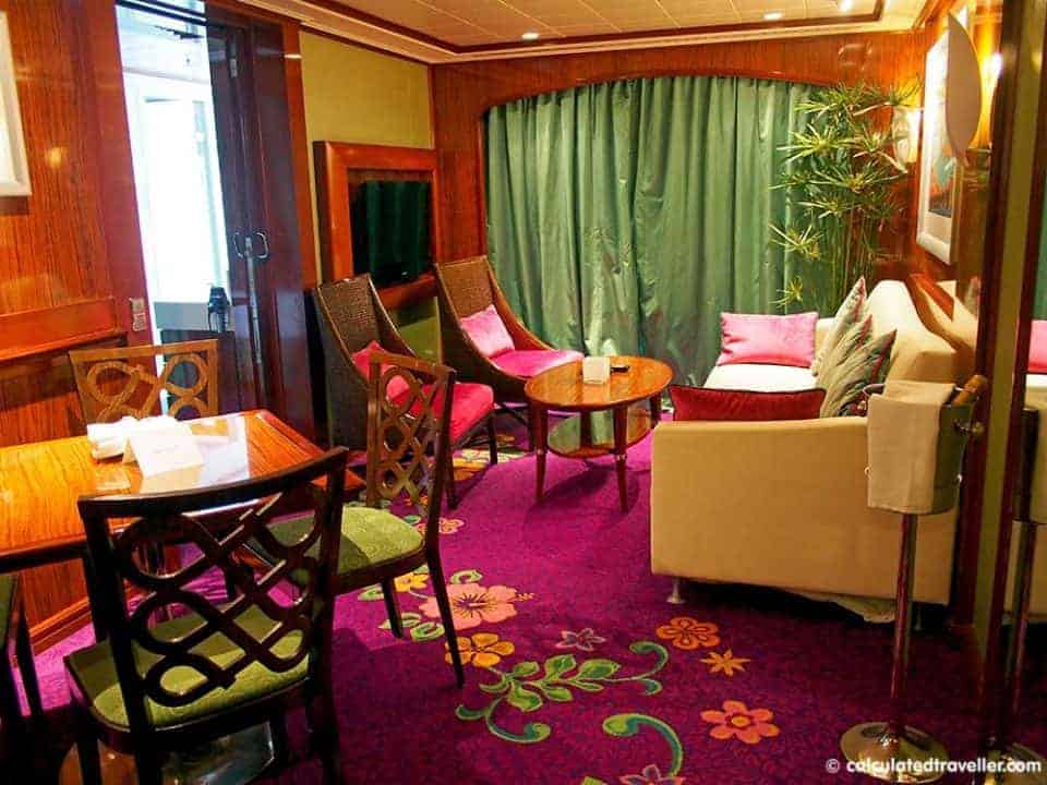 A Sweet Suite on Norwegian Cruises --- Norwegian Jade Emerald Penthouse Suite Living Room