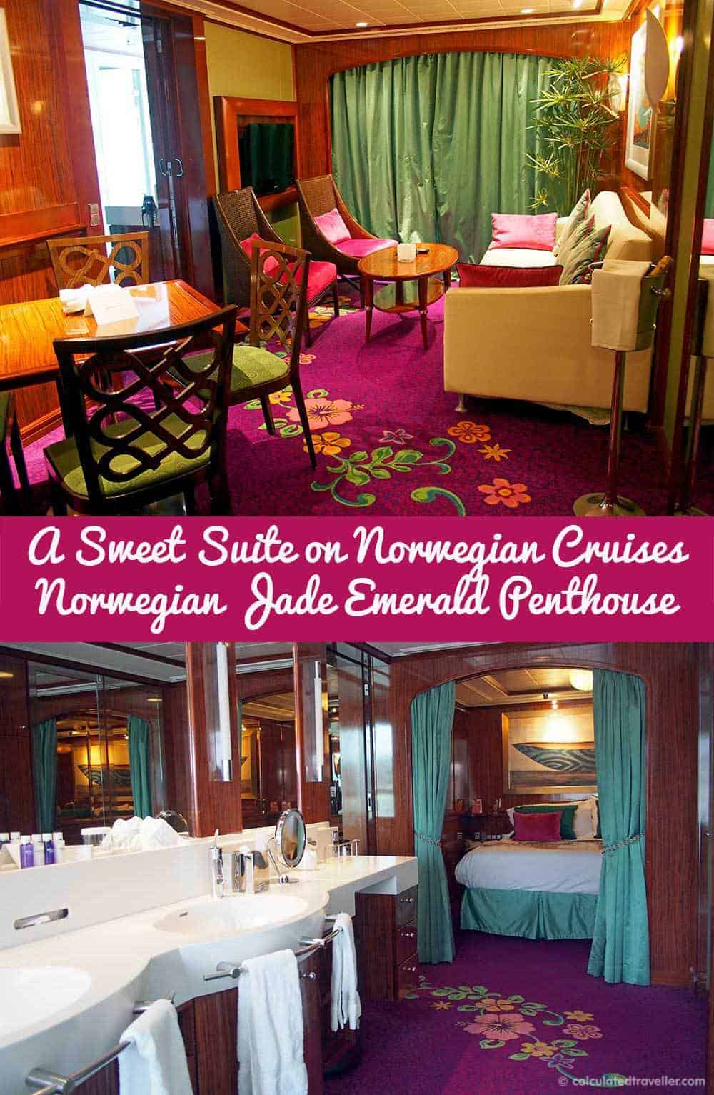A Sweet Suite on Norwegian Cruises. A Norwegian Jade Emerald Penthouse Experience in a 2 bedroom / 2 bathroom balcony suite by Calculated Traveller.