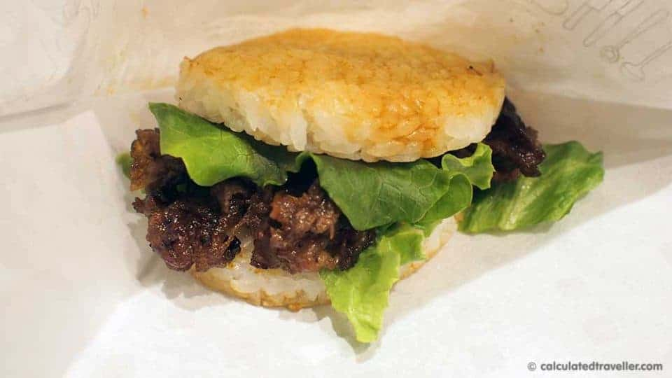 MOS Burger - Japanese Fast Food Review by Calculated Traveller. MOS Rice Burger Yakiniku