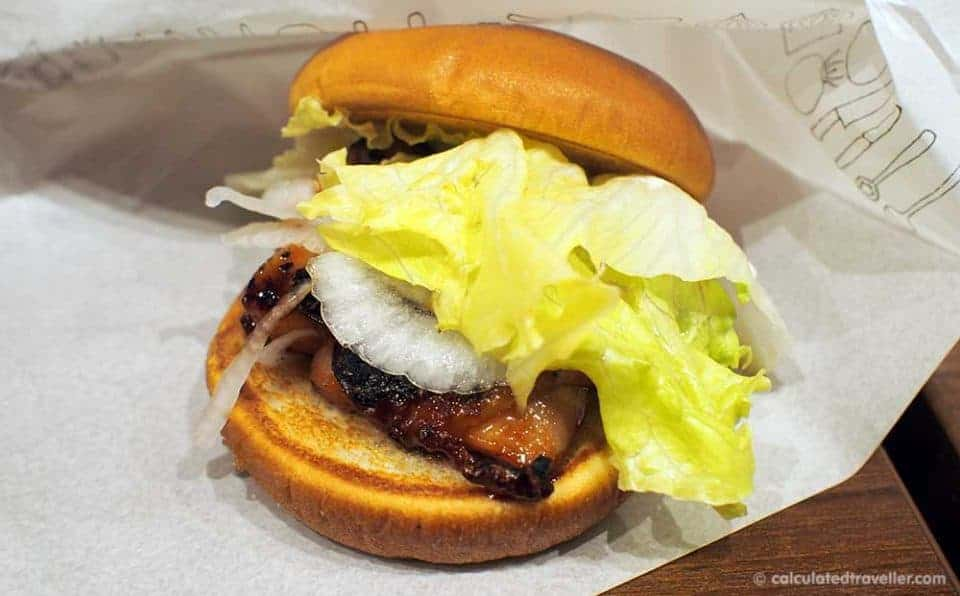 MOS Burger - Japanese Fast Food Review by Calculated Traveller. Teriyaki Chicken Burger.