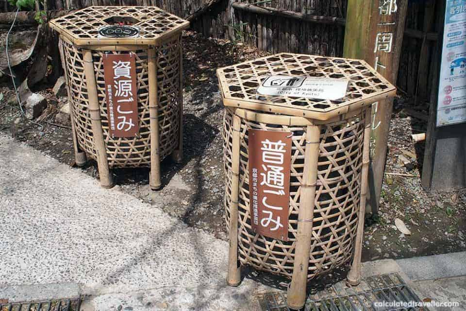 Nine Unique Experiences Found In Japan - Kyoto Garbage Can