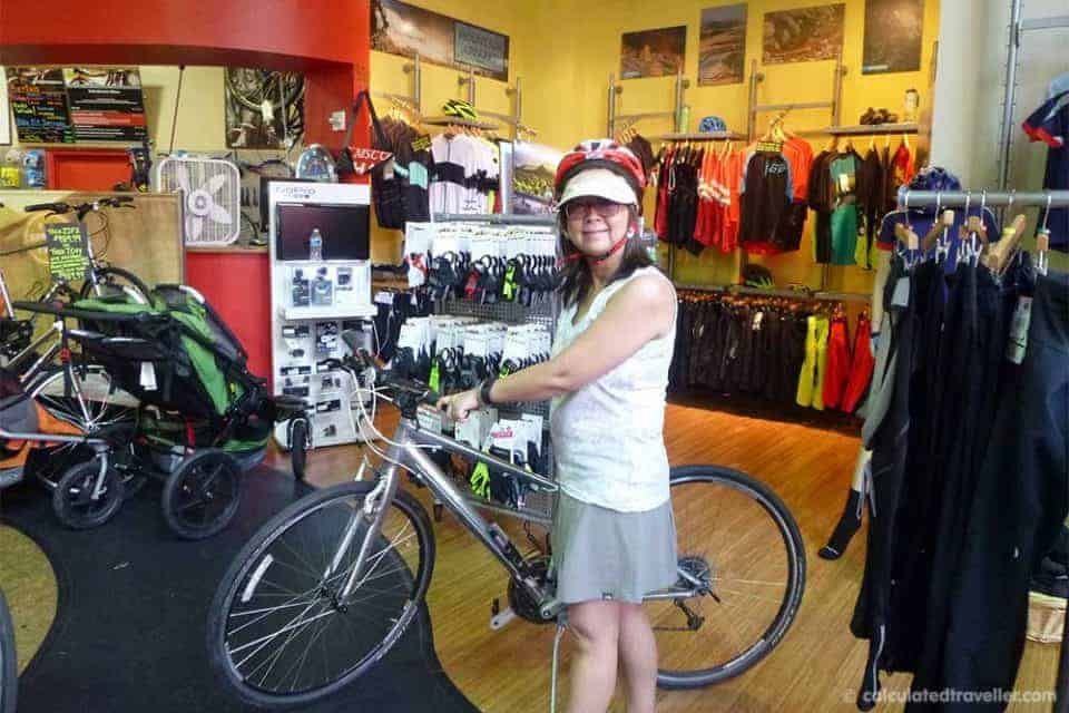 Guide to Rent a Bike on Vacation. Calculated Traveller at The Bike Lane in Reston Virginia