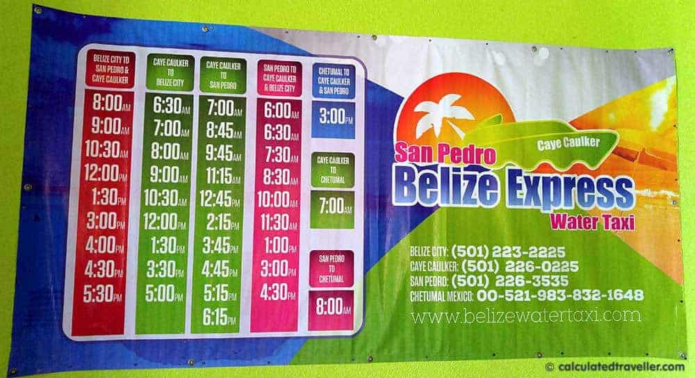 One Day Spent Exploring the Belize Cruise Port - Belize Express Schedule